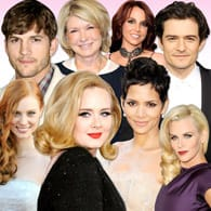 A collage of celebrities who've tried online dating