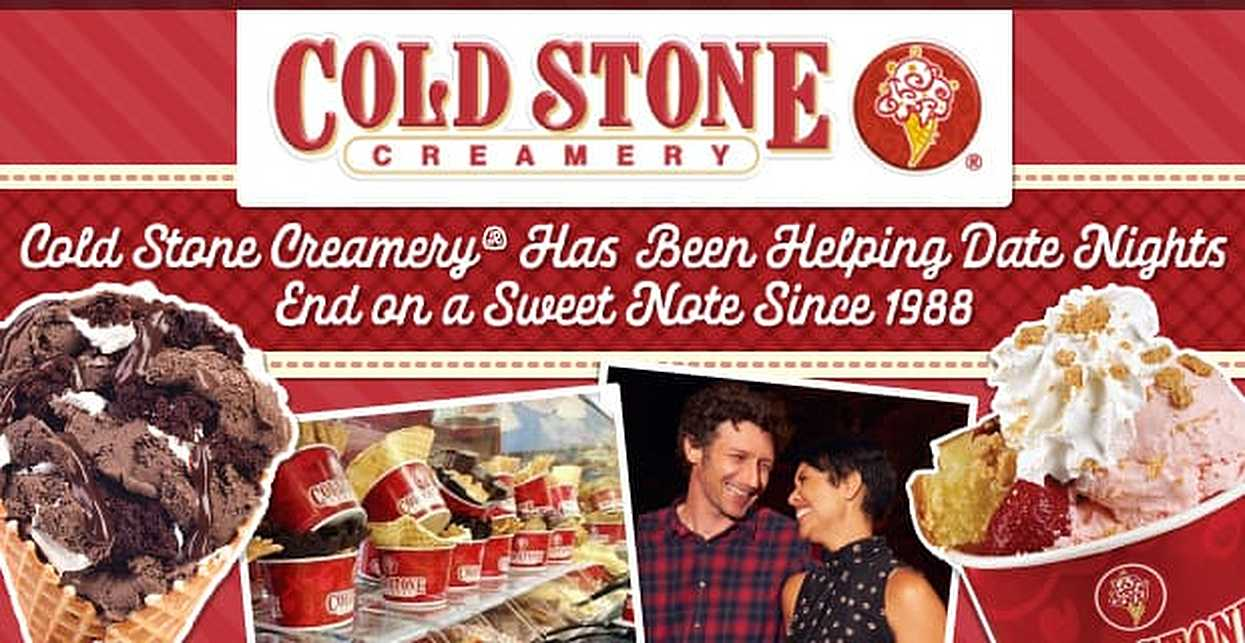Cold Stone Creamery® Has Been Helping Date Nights End on a Sweet Note Since 1988