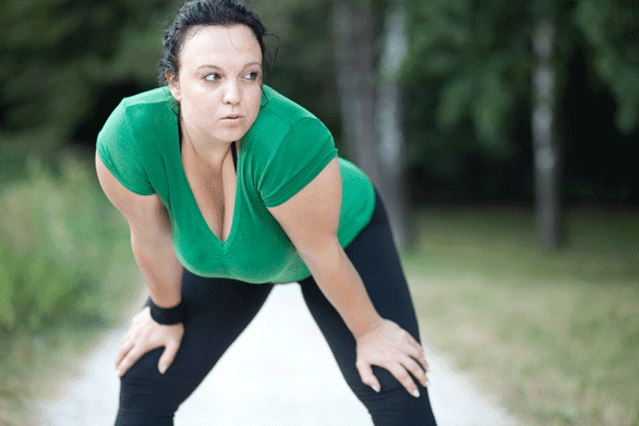 Photo of a woman exercising