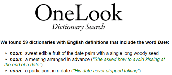 Photo of the OneLook logo and word and phrase search engine