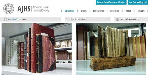 Screenshot of the AJHS website
