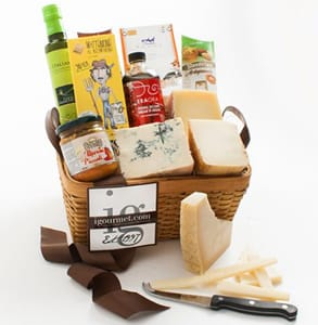 Photo of an igourmet gift basket