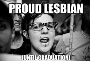 Meme of a Lesbian Until Graduation