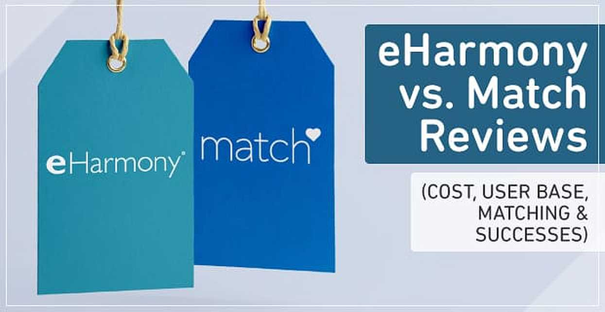 """eHarmony vs. Match"" Reviews (Cost, User Base & Matching)"