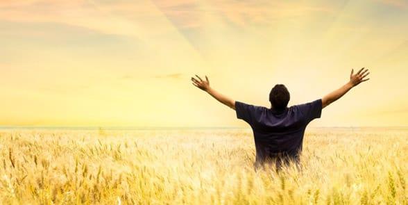 Photo of a man feeling accomplished