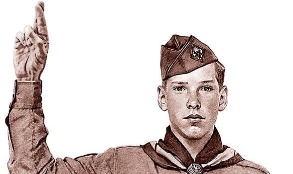 Photo of a boy scout