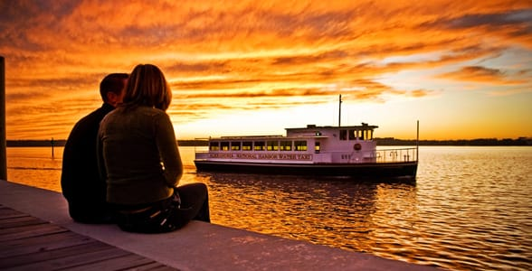 Photo of a couple looking out at the Potomac River