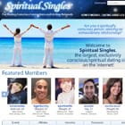 Screenshot of Spiritual Singles homepage