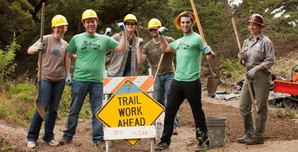 Photo of volunteers with the Golden Gate National Parks Conservancy