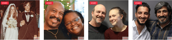 Screenshot of StoryCorps' stories
