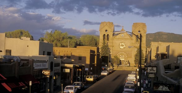 Photo of downtown Santa Fe