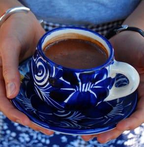 Photo of a cup of Kakawa chocolate