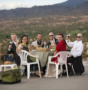 Photo of opera tailgating in Santa Fe