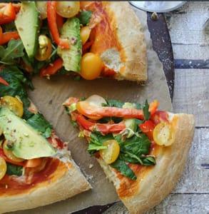 Photo of Sharon Palmer's Arugula Salad Pizza