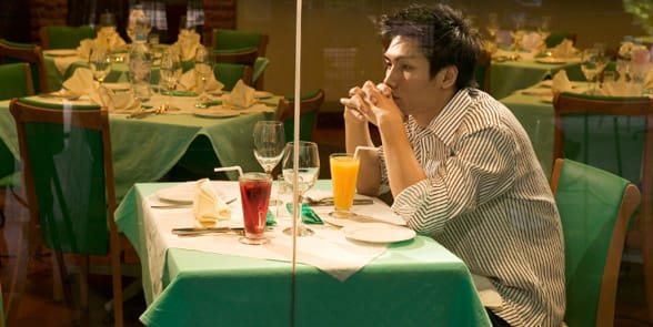 Photo of a man stood up on a date