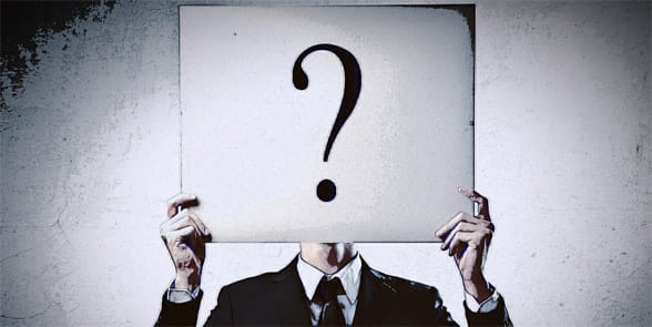 Photo of a man with a question mark over his face