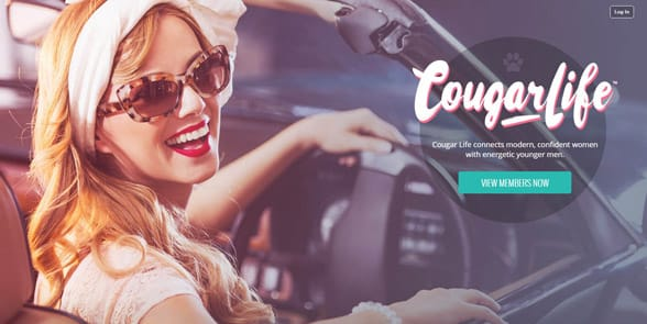 Screenshot of the Cougar Life homepage
