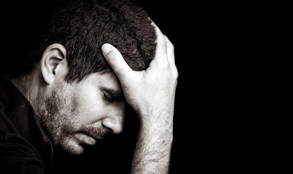 Photo of an anxious man