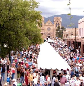 Photo of the Santa Fe Indian Market