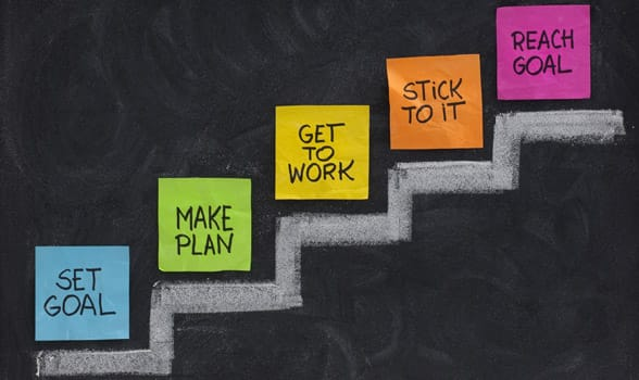 Photo of a goal-setting plan