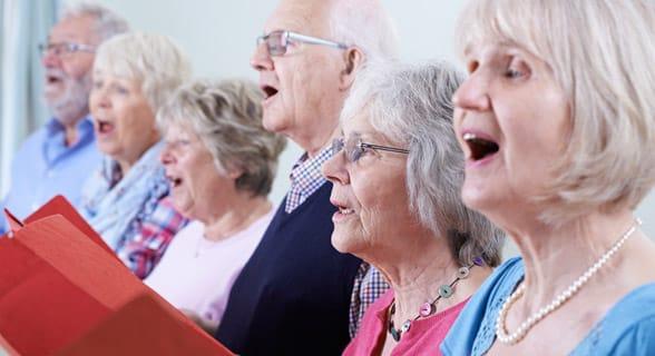 Photo of a senior church choir