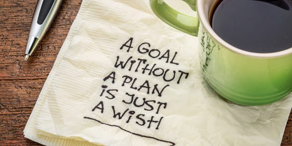 Photo of a quote about setting goals