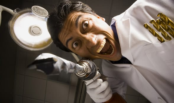 Photo of a scary dentist