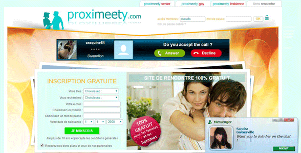 Screenshot of Proximeety's homepage