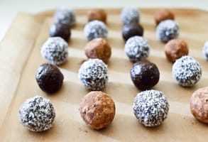Photo of Clotilde's raw chocolate hazelnut truffles