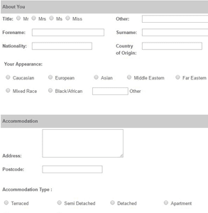 Screenshot of Select Personal Introductions' application