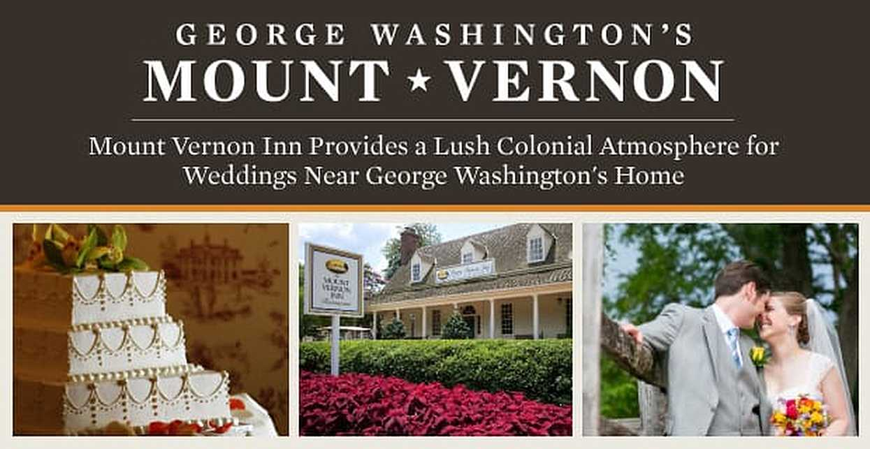 Mount Vernon Inn Provides a Lush Colonial Atmosphere for Weddings Near George Washington's Home