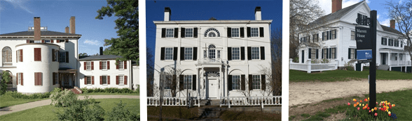 Collage of three Historic New England properties