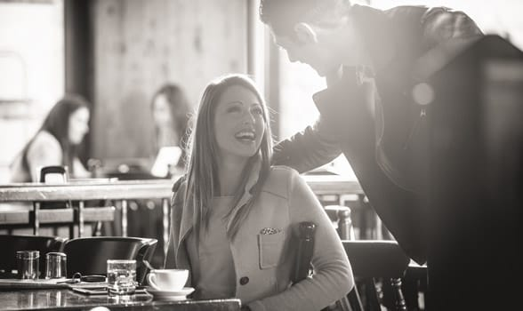 Photo of a couple meeting for a date