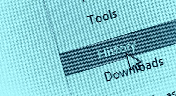 Photo of someone erasing their browser history