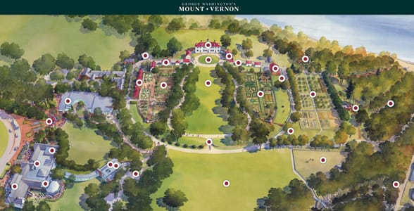 Photo of a map of Mount Vernon
