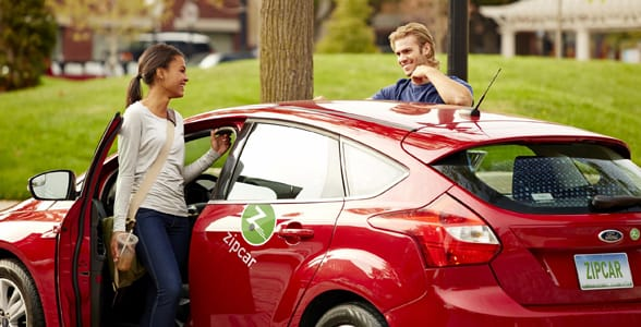 Photo of a couple using Zipcar