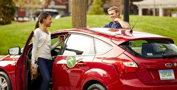Photo of a couple using Zipcar