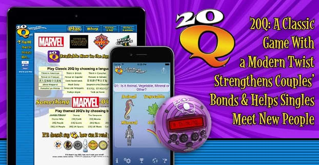 20Q — A Classic Game With a Modern Twist Strengthens Couples' Bonds & Helps Singles Meet New People