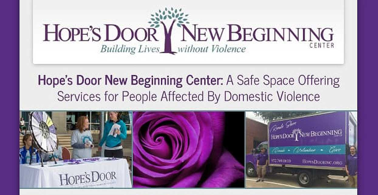 Hope's Door New Beginning Center: A Safe Space Offering Services for People Affected By Domestic Violence
