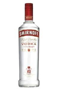Photo of a bottle of Smirnoff vodka