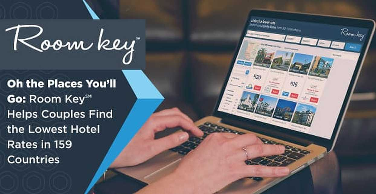 Oh, the Places You'll Go — Room Key℠ Helps Couples Find the Lowest Hotel Rates in 159 Countries
