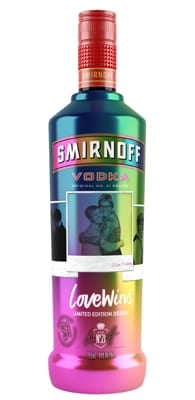 Picture of the Smirnoff's 2017 Love Wins Bottle