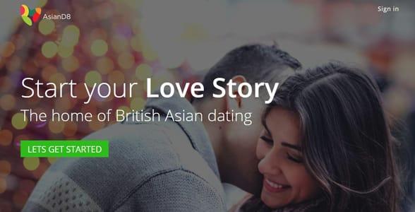 Screenshot of AsianD8's website