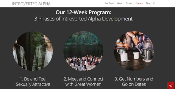 Screenshot of Introverted Alpha's website
