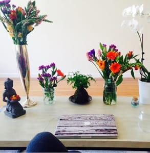 Photo of Sarah Jones' work space