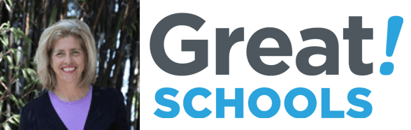 Carol Lloyd's headshot and the GreatSchools logo