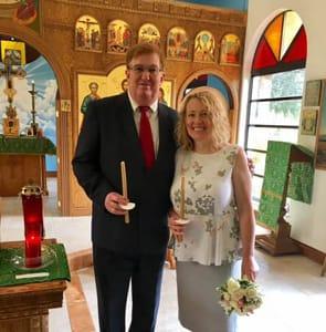 Photo of Anna Kotova and Peter Rinaldi on their wedding day