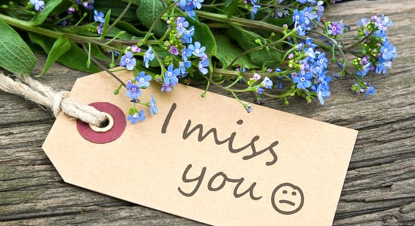 Photo of an I Miss You note