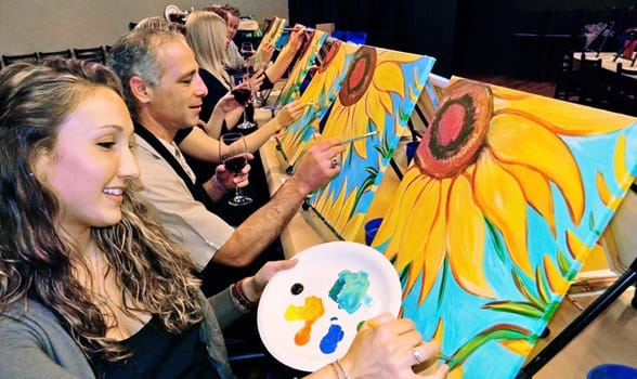 Photo of a painting class