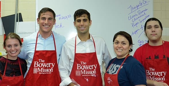 Photo of Young Philanthropists at the Bowery Mission
